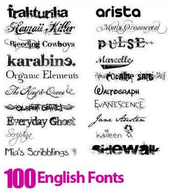 ۱۰۰ فونت زیبای انگلیسی – دانلود فونت انگلیسی