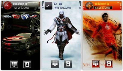 مجموعه ۳ تم زیبا مخصوص گوشی های نوکیا s60v5