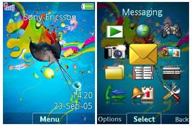 تم موبایل Color Explosion برای سونی اریکسون