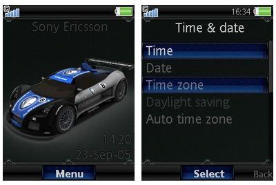 تم موبایل GT car برای گوشی های سونی اریکسون ورژن ۴٫۷ و ۴٫۸