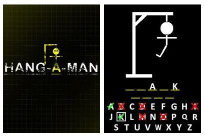 بازی موبایل Hang-A-Man به صورت جاوا