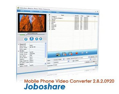 Joboshare Mobile Phone Video Converter 2.8.2.0920 – نرم افزار کاربردی