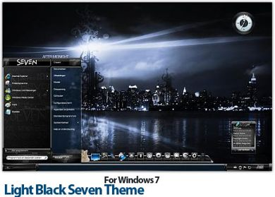 تم مشکی ویندوز ۷ – Light Black Seven Theme For Windows 7