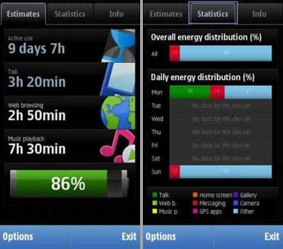 نمایش اطلاعات گوشی با Nokia Battery Monitor S60v5