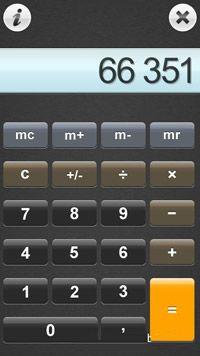 ماشین حساب زیبا و لمسی OffScreen Calc Touch v1.01