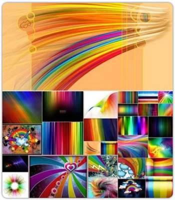 مجموعه ای بی نظیر از تصاویر رنگین کمانی با نام  Rainbow Wallpaper