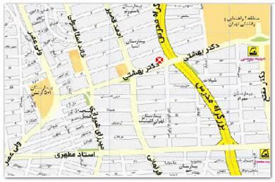 دانلود نقشه تهران جدید سال ۸۹ برای موبایل – Tehran Map 89