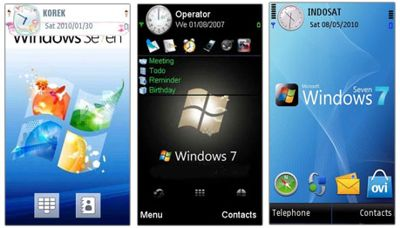 تم زیبا و با کیفیت با طرح ویندوز ۷ – سیمبیان سری ۶۰ ویرایش ۵
