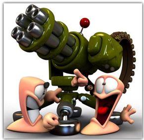 دانلود بازی جاوا Worms Crazy Golf – بازی موبایل