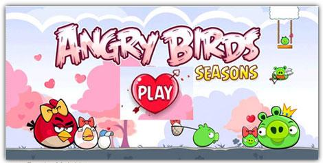 نسخه جدید بازی Angry Birds Seasons Happy Valentine's Day2