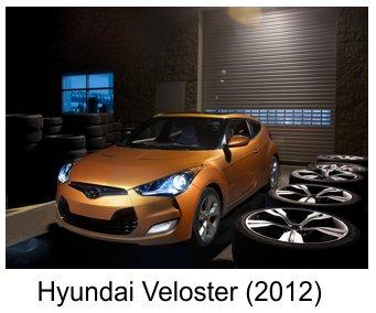 مجموعه ای از تصاویر هیوندای جدید Hyundai Veloster  2012