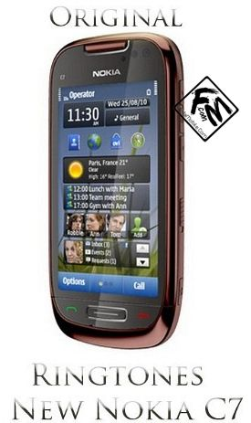زنگ های فابریک Original Ringtones New Nokia C7