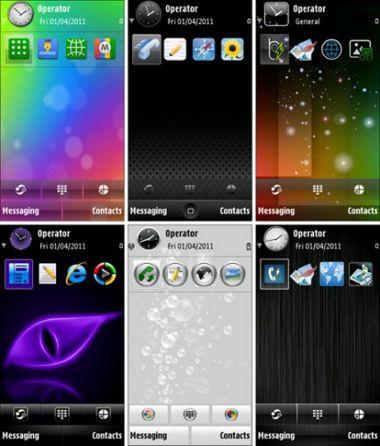 مجموعه اول از سری تم های نوکیا S60v5 Symbian 9.4