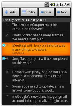 نرم افزار Weeklyplan V1.6 – نرم افزار آندروید
