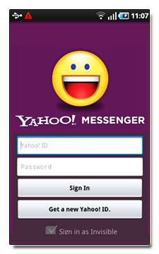 نرم افزار یاهو مسنجر برای آندروید Android Yahoo Messenger v1.2