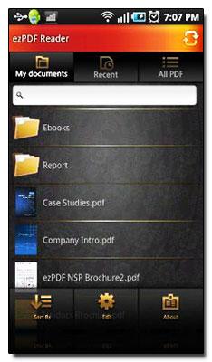 نرم افزار مشاهده فایل ها PDF در گوشی با ezPDF Reader v1.2.1.0 – نرم افزار آندروید