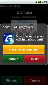نرم افزار مدیریت تماس A+ Call Manager Backgrounder v1.6.2 برای آندروید