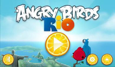 دانلود بازی کم حجم کامپیوتر پرندگان عصبانی Angry Birds Rio Gold 2012 v1.2.2
