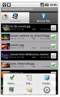دانلود نرم افزار مدیریت فایل ها BlueFTP v1.7 برای گوشی های آندروید