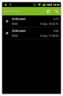 ضبط صدای مکالمات بدون در آندروید با نرم افزار CallRecorder v1.0.37