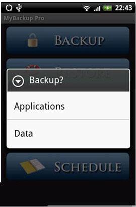 نرم افزار تهیه نسخه پشتیبان در آندروید با My Backup Pro v2.7.5