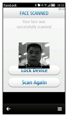 دانلود نرم افزار تشخیص چهره Nokia Facelock v1.00 برای سیمبیان ۳