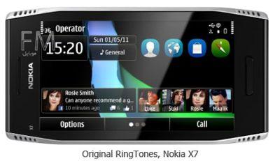 مجموعه زنگ های فابریک X7 -دانلود Nokia X7 Original ringtones
