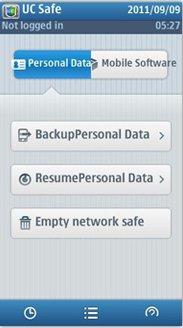 پشتیبان گیری از گوشی با Uc Safebox برای نوکیا سیمبیان ۳