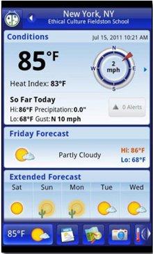 دانلود نرم افزار آندروید پیش بینی وضع هوا با Weather Bug Elite 2.5