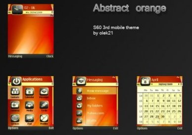 تم نوکیا سری ۶۰ ویرایش ۳ -Abstract orange