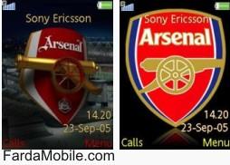 تم آرسنال برای موبایل – تم Arsenal – theme Arsenal
