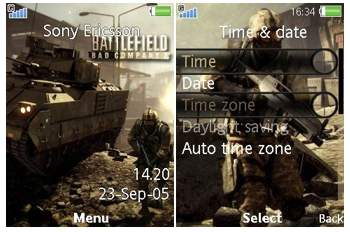 تم سونی اریکسون Battlefield Bad Company 2 theme