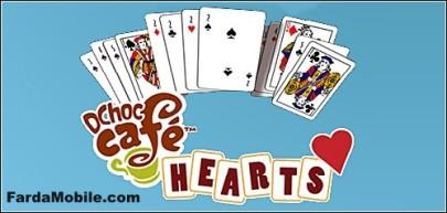 بازی ورق DChoc Cafe Hearts برای موبایل به صورت جاوا