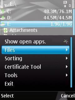 نرم افزار فایل منیجر برای نوکیا سری ۶۰ ویرایش ۳ – DynaFile v1.02