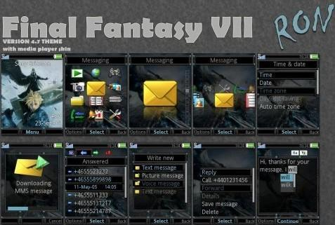 تم Final Fantasy vii برای گوشی سونی اریکسون K850i