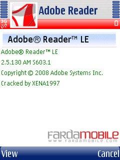 نمایش فایل PDF با Nokia Adobe PDF Reader LE v2.5