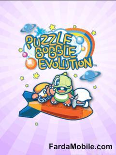 بازی سرگرم کننده موبایل به صورت جاوا  Puzzle Bobble Evolution