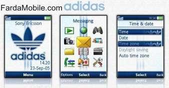 تم آدیداس برای سونی اریکسون – Retro Adidas