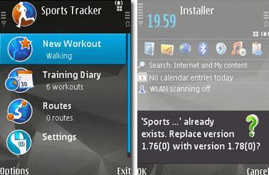 محاسبه ی سرعت و مسافت با GPS به وسیله ی Nokia Sports Tracker