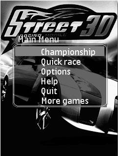 بازی جاوا و ۳ بعدی Street Racing Mobile برای موبایل