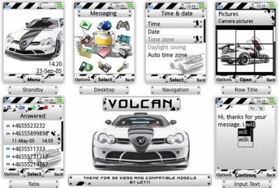 تم Volcan برای گوشی های K790 , K850