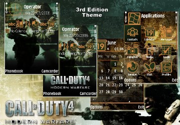 S60 V3 theme – call of duty 4