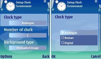 نرم افزار  قرار دادن ساعت به روی صفحه با Clock Screensaver