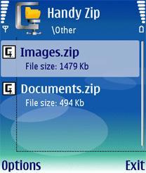 باز کردن فایل های زیپ zip در گوشی های نوکیا سری ۶۰ ورژن ۳ با handy zip