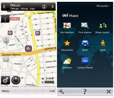 ورژن جدید برنامه نقشه یابی نوکیا Ovi Maps v3.03 – دانلود