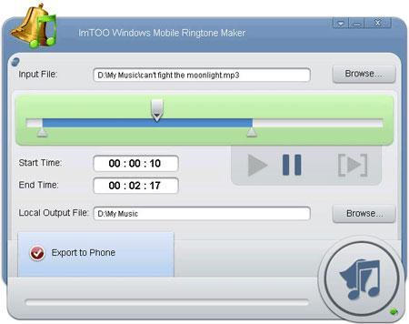 نرم افزار ساخت زنگ موبایل ( رینگتون موبایل ) با Windows Mobile Ringtone Maker